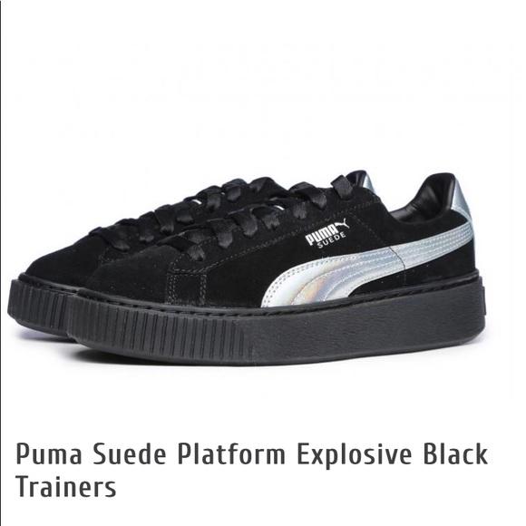 basket puma suede platform explosive